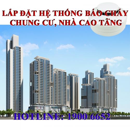 Lắp đặt hệ thống báo cháy tự động cho chung cư nhà cao tầng - Báo cháy YunYang - Hotline: 1900 6652