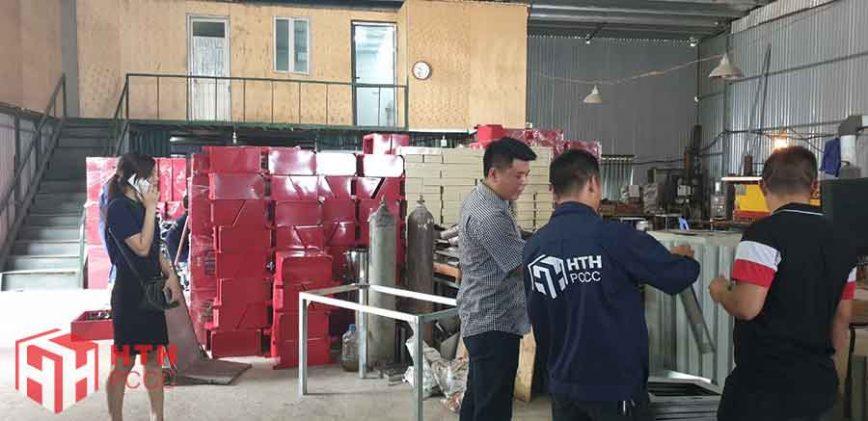 HTH PCCC sản xuất hộp tủ chữa cháy, hộp đựng phương tiện chữa cháy ngoài nhà, trong nhà